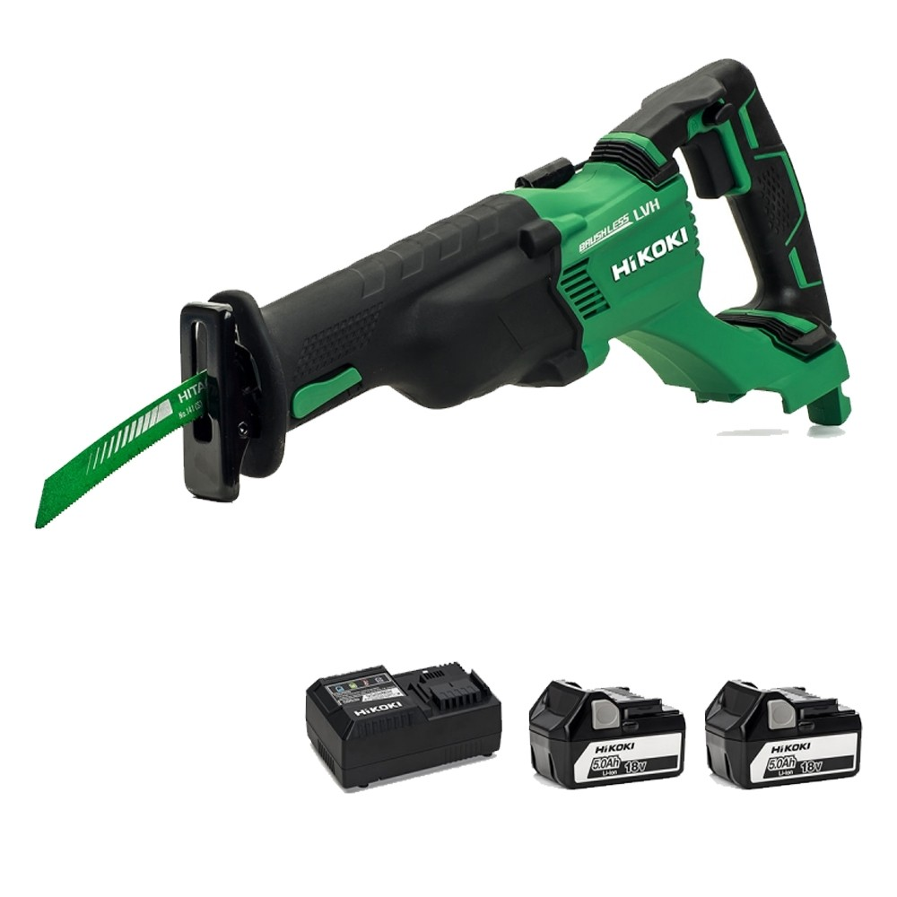 Hitachi CR18DSL/JJ 18v Li-ion Reciprocating saw with 2 x 5.0Ah Li-ion Battery