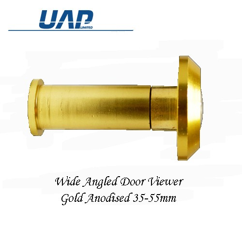 Wide Angle Door Viewer Gold 35mm-55mm