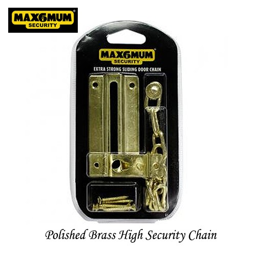 Door Chain High Security Brass Finish