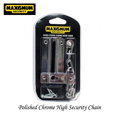 Door Chain High Security Chrome Finish