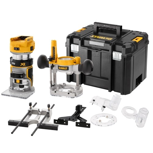 "Dewalt DCW604NT-XJ 1/4"" Brushless Router in T-Stak Case"