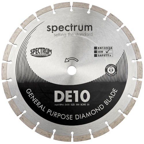 Spectrum OX DE10 300 X 20mm Bore Diamond Blade