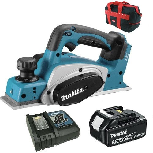 Makita dkp180rf 18v Li-Ion lxt planer 1 x 4.0ah batteries + charger carry bag