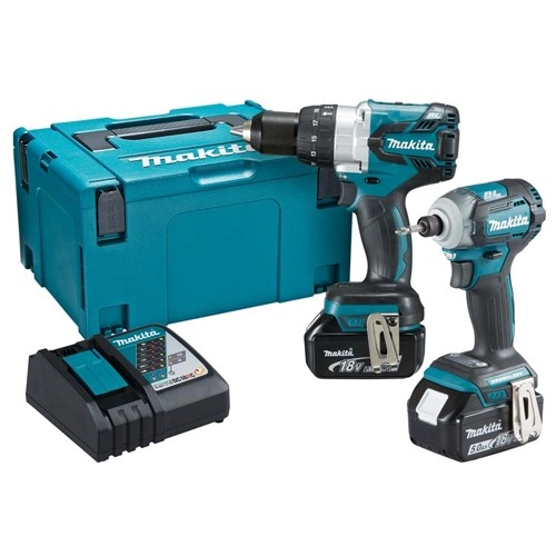Makita DLX2214TJ 18v Brushless Twin Kit (2 x 5.0ah Batteries)