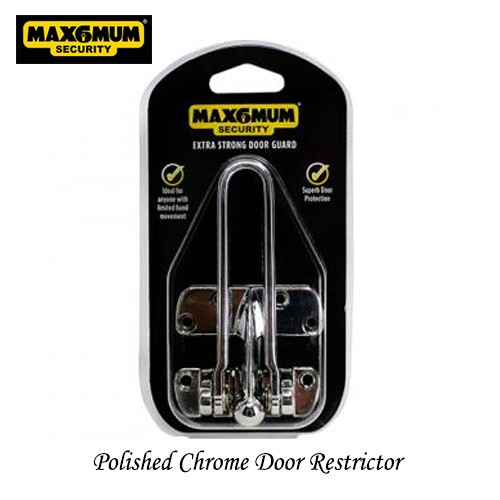 Polished Chrome Door Restrictor
