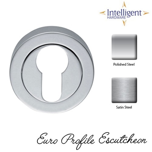 Euro Profile Escutcheon Round Stainless Steel