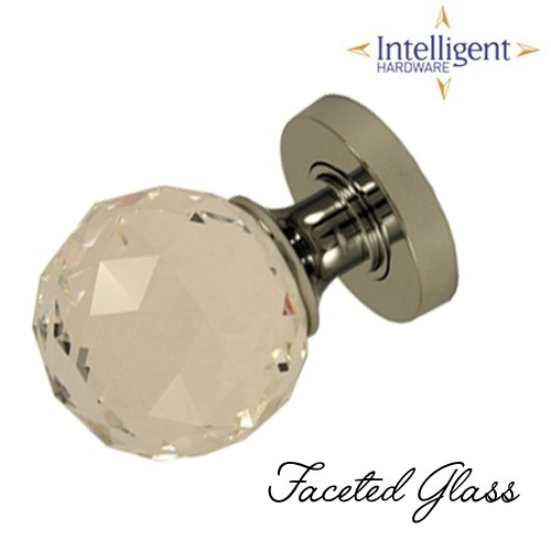 61mm Mortice Faceted Glass Knob