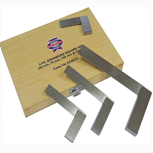 Faithfull FAIESSET4 Engineers Squares Set 4pce (50, 75, 100, 150mm)