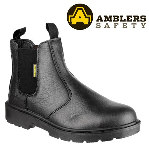 Amblers Fs116 Pull-On Dealer Work Boots Black