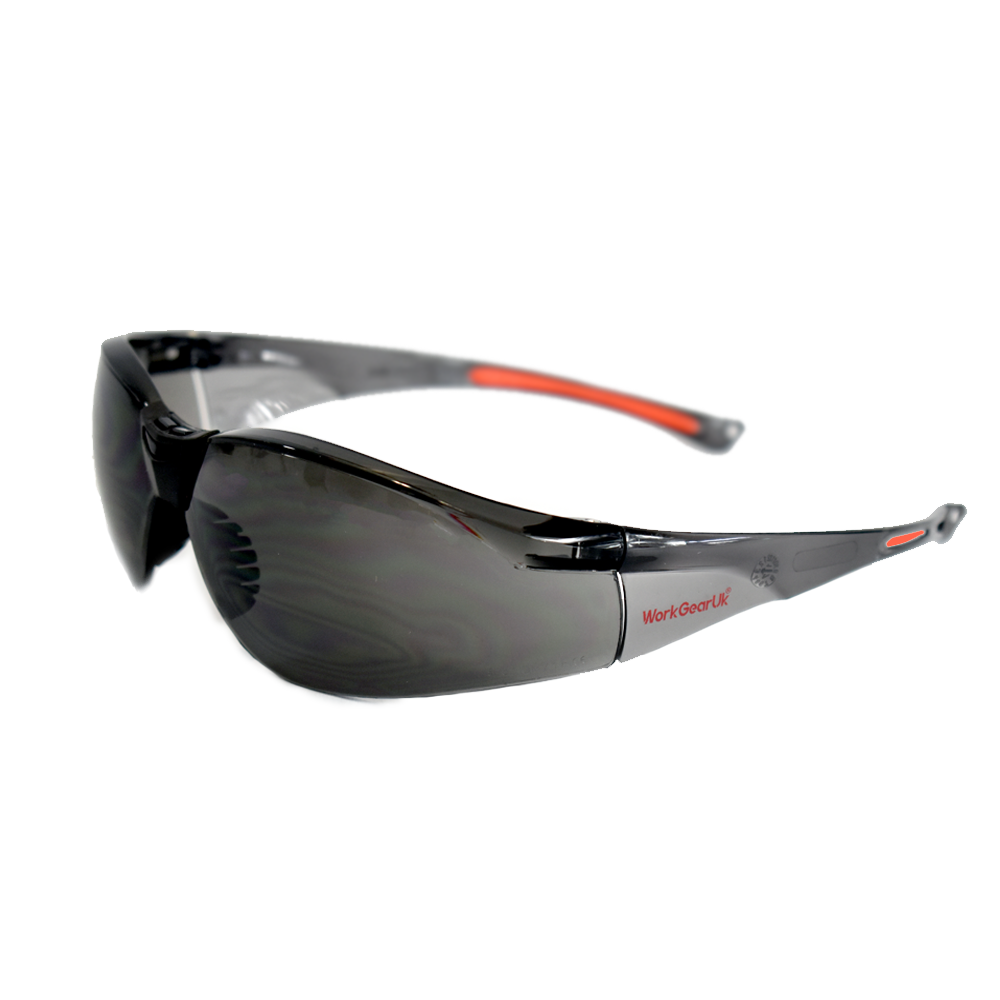 Work Gear Uk GX02 Grey Lens CE EN 166 Safety Glasses WG-GX02