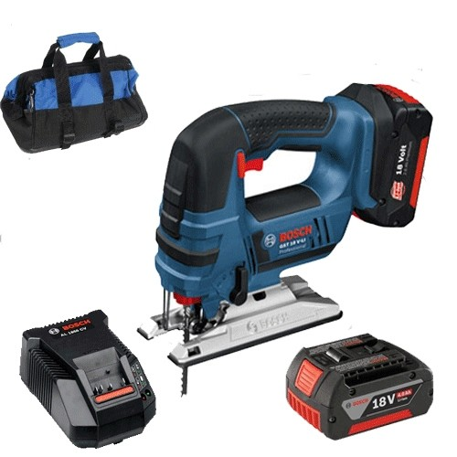Bosch GST18V-LI 18V Jigsaw Kit (2 x 4.0ah Battery + Charger in a Kit Bag)
