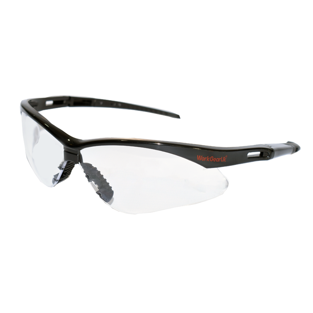 Work Gear Uk GX04 Clear Lens Safety Glasses EN166 WG-GX04