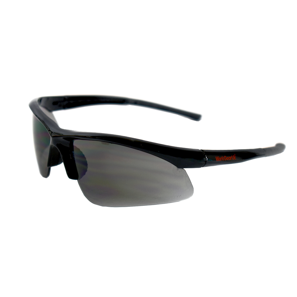 Work Gear Uk GX01 Smoke Lens Safety Glasses CE EN166 WG-GX01
