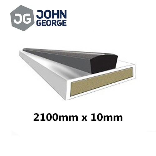 Intumescent Strip Fire & Smoke White 2100 x 10mm