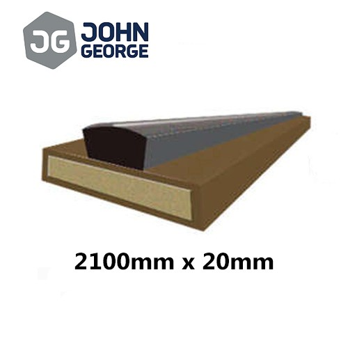 Intumescent Strip Fire & Smoke Brown 2100 x 20mm