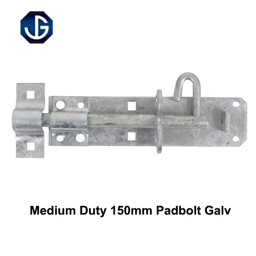 Medium Duty Padbolt Galvanised Finish 150mm (HD2AG0650)