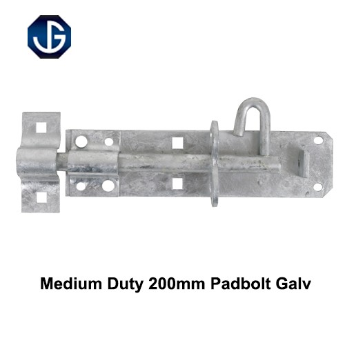 Medium Duty Padbolt Galvanised Finish 200mm (HD2AG0850)