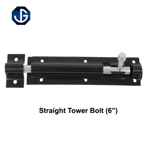 "923A Straight Tower Bolt Black Finish 6"" (HD923AB060)"