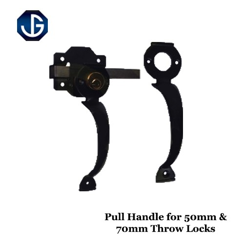Pull Handle for Long Throw Lock Black Finish HDTLH08B