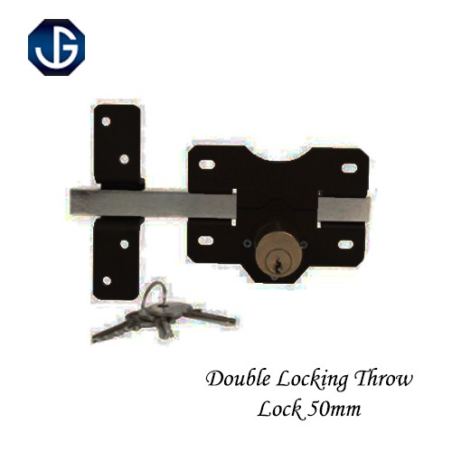 L/Throw Double Locking Steel Bolt Lock 50mm HDTLSSA050