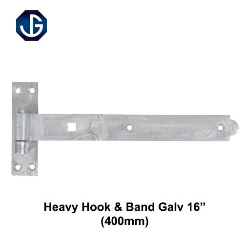 "Heavy Hook and Band Galv 16"" Pair (HH1055G16)"