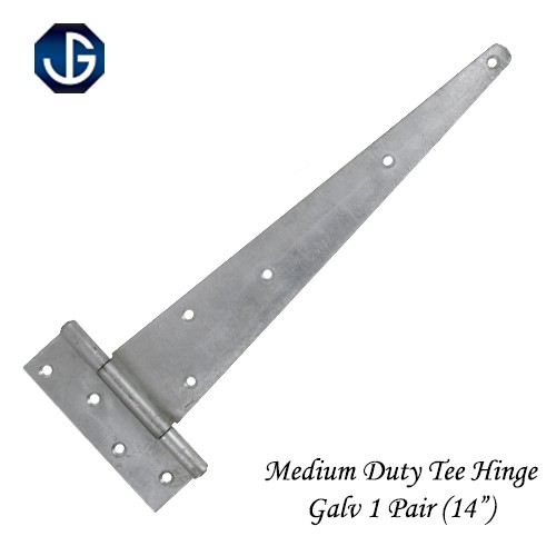 "Tee Hinges Medium Duty Galvanised - 300mm (12"") Pair"