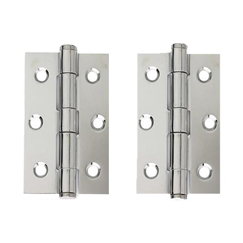 Steel Button Tipped Hinge Pair 75mm x 50mm HST.75.CP.BT
