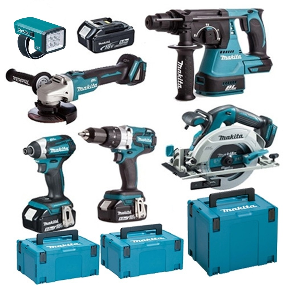 Makita 18v Brushless KIt TOPKI6 WITH 3X5.0Ah Batteries