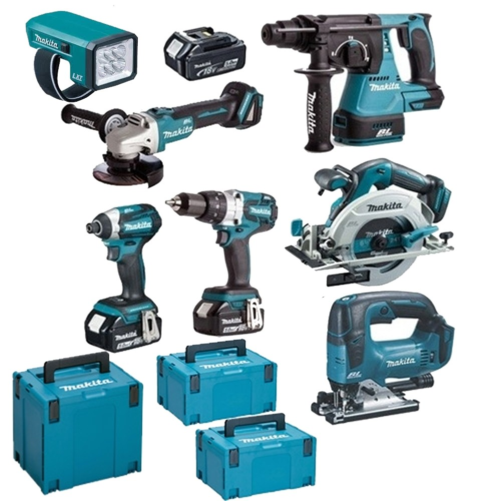 Makita 18v Brushless KIt TOPKI7 WITH 3X5.0Ah Batteries