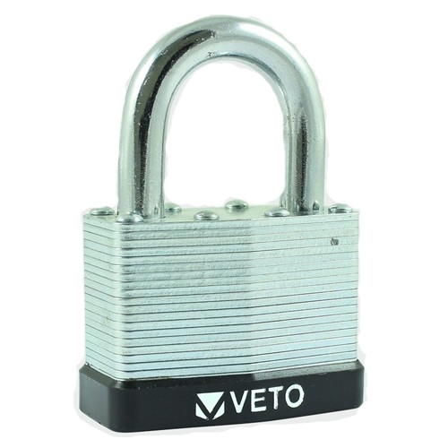 Veto Laminated Steel Padlock (50mm Long Shackle) LSP50L