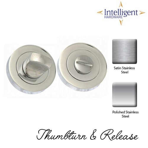 Bathroom Thumbturn & Release Stainless Steel