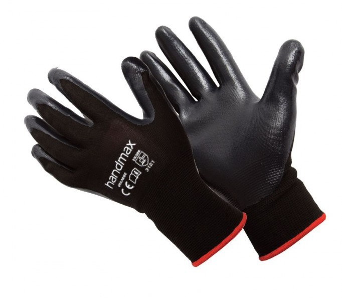 Black PU Palm Gloves - 1 Pair