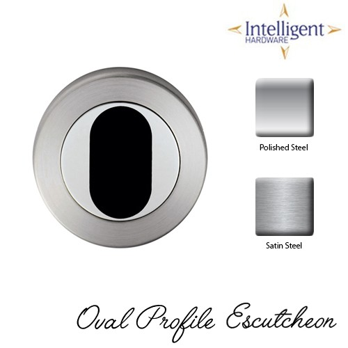 Oval Profile Escutcheon Stainless Steel
