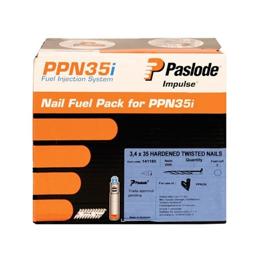 Paslode 141185 35mm Twisted Nails for PPN35CI Pack of 2500