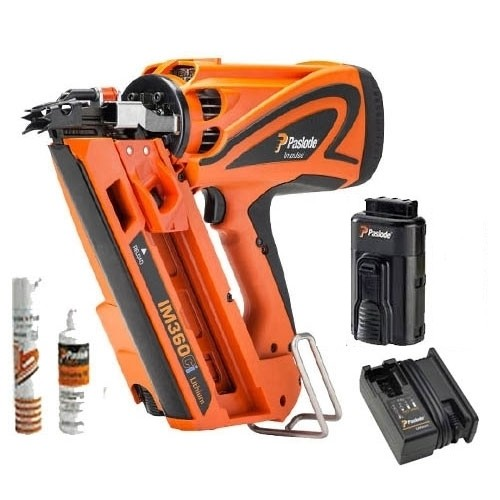 Paslode IM360Ci 1st FixFraming Nail Gun With 1x2.1Ah Lithium Battery in Case