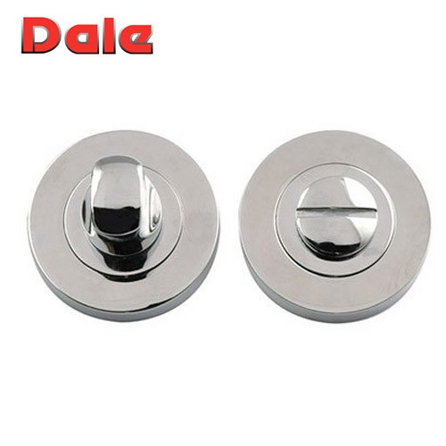Satin Chrome Bathroom Turn & Release Set Dale Hardware DH003642