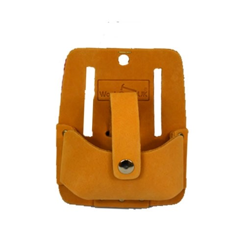 Work Gear Uk Tape Holder  Button Loop with top grain leather in Brown WG-PX38