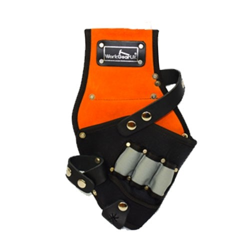 Work Gear Uk Drill Holster Made from Heavy Duty Polyester and Suede Leather WG-PX41