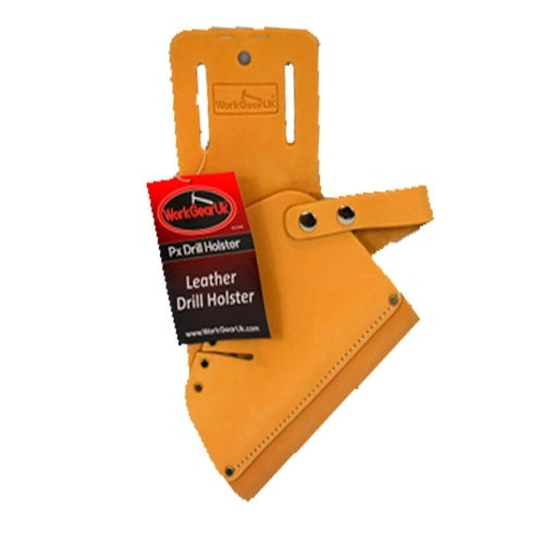 Work Gear Uk Drill Holster in top grain leather in Tan WG-PX42