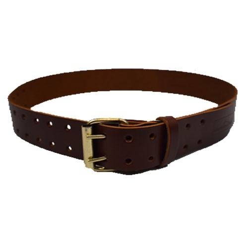 "Work Gear Uk 2"" Leather Belt in Heavy Duty Top Grain Leather Dark Tan Finish WG-PX44"