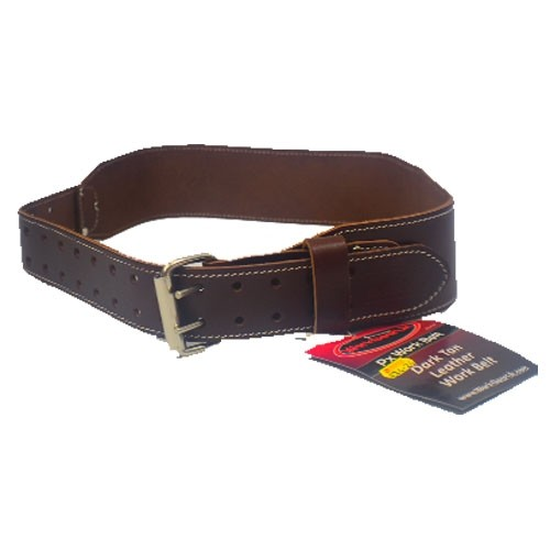"Work Gear Uk 2.75"" Leather Belt in Heavy Duty Top Grain Leather With a Dark Tan Finish WG-PX45"
