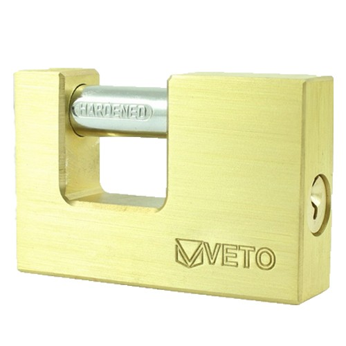 Rectangle Brass Padlock High Security 75mm