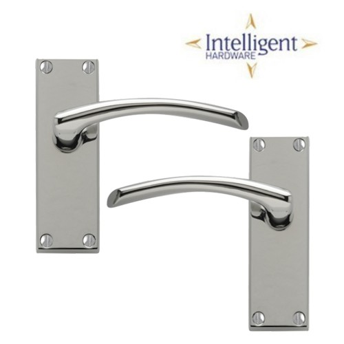 Roma Latch Lever Handle Set - Polished Chrome