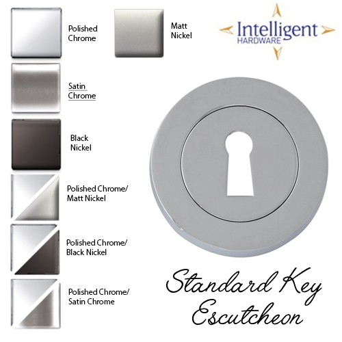 Standard Key Escutcheon Satin Chrome ESC.STD.SCP