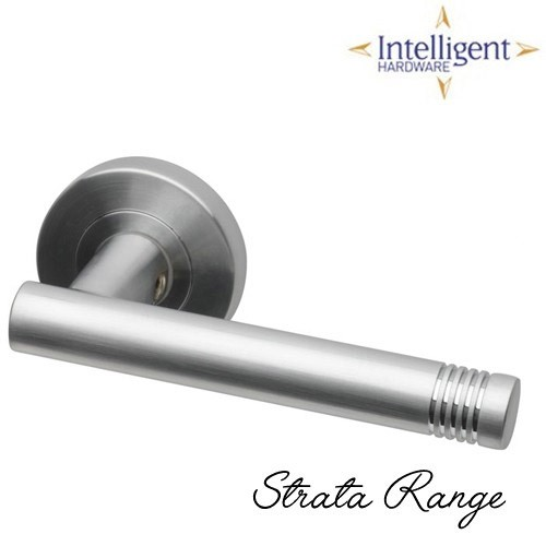 Strata Satin Chrome Door Handles