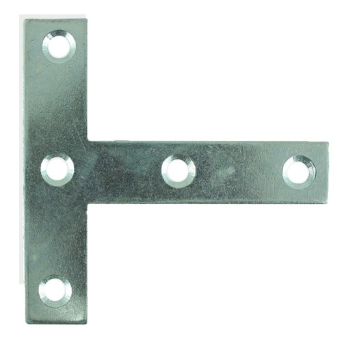 Tee Plate Zinc Plated Pack of 25 76x76x16