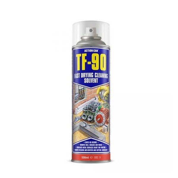 TF-90 Fast Dry Cleaning Solvent and Degreaser 500ml (1848)