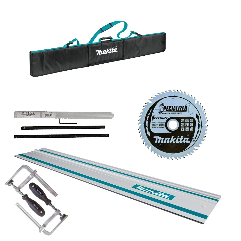 Makita Guide Rail 1000mm clamps and connector rail Blade