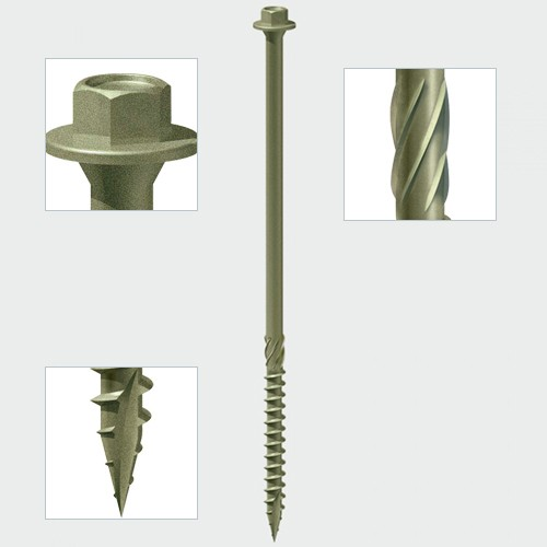 Index Timber Screw Hex - GRN 6.7 x 200 Qty 50