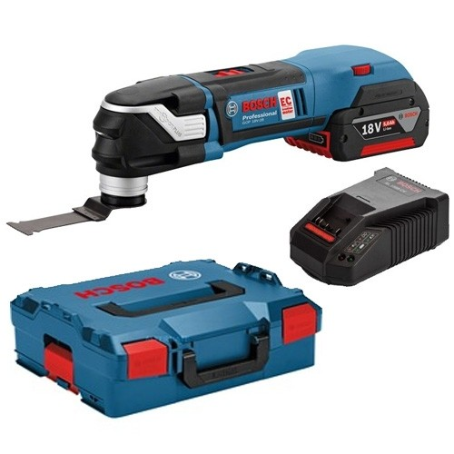 Bosch GOP 18V-28 With 5.0Ah Battery 18v StarlockPlus Multi-Cutter Body Only With L-Boxx